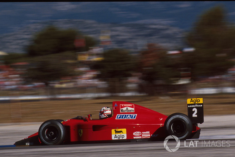 #9: Nigel Mansell, Ferrari 641, Le Castellet 1990: 1:04,402