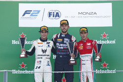 Podium: Sergio Sette Camara, MP Motorsport, Luca Ghiotto, RUSSIAN TIME, Antonio Fuoco, PREMA Powerteam