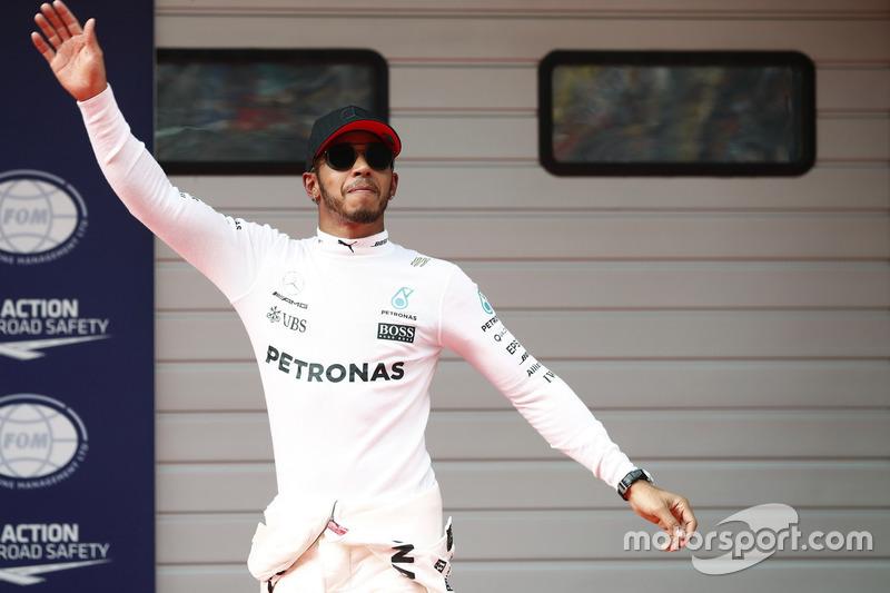 Il poleman Lewis Hamilton, Mercedes AMG