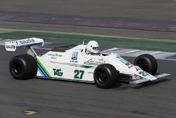 An Alan Jones Williams FW07 is demonstrated