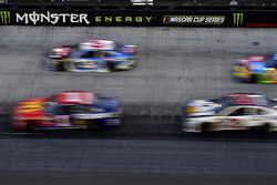 A general view passing the Monster Energy sign