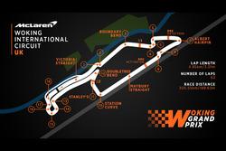 Карта международного автодрома в Уокинге
