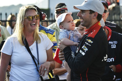Will Power, Team Penske Chevrolet, Elizabeth Power, Beau Power Celebrate in Victory Lane