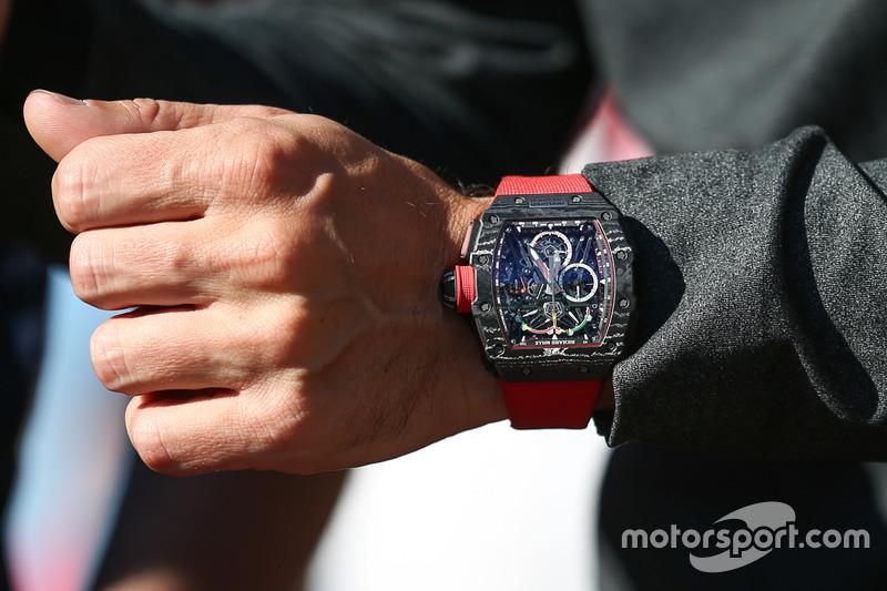 The watch of Fernando Alonso, McLaren