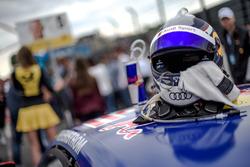 Helmet of Mattias Ekström, Audi Sport Team Abt Sportsline, Audi A5 DTM