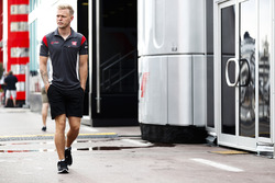 Kevin Magnussen, Haas F1 Team, in the paddock