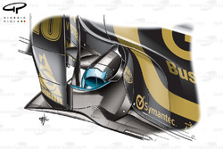 Lotus Renault R31 forward exhausts