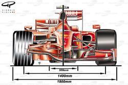 Ferrari F60 (660) 2009 front view comparison with F2008