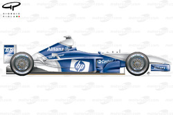 Williams FW25 side view