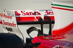 Detail sayap belakang dan kursi monyet Ferrari SF70H