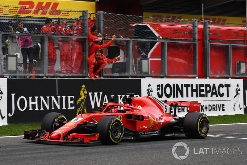 13. GP Belgia - Pemenang: Sebastian Vettel