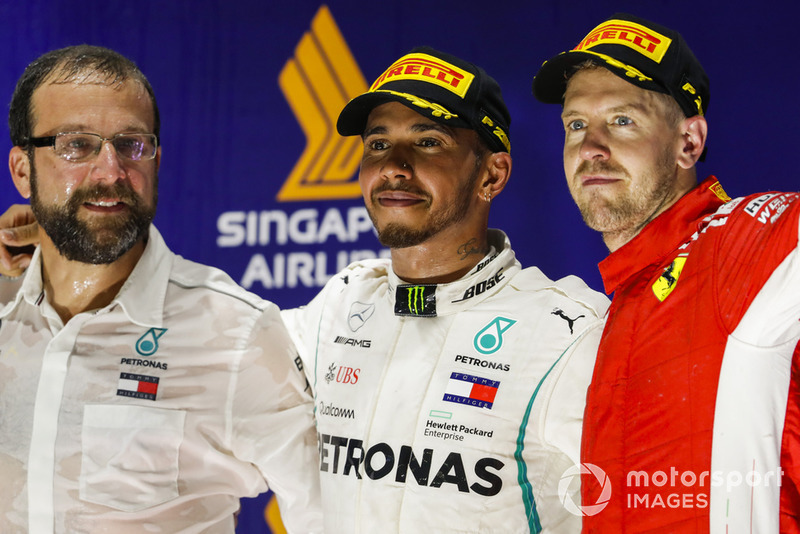 Lewis Hamilton, Mercedes AMG F1, Sebastian Vettel, Ferrari.