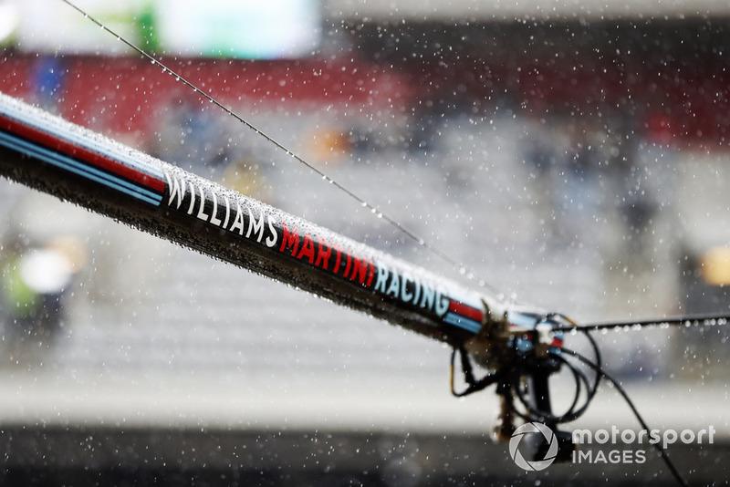 Du matériel de Williams dans la voie des stands