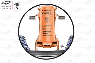 McLaren MCL33 nose, United States GP