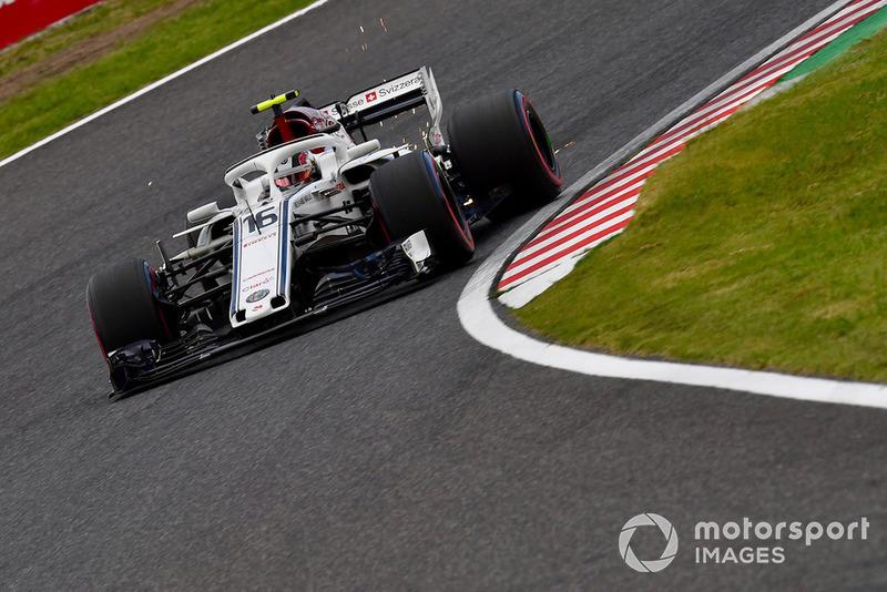 Charles Leclerc, Sauber C37 sparks