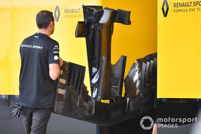 Morro y frontal del Renault Sport F1 Team 2018