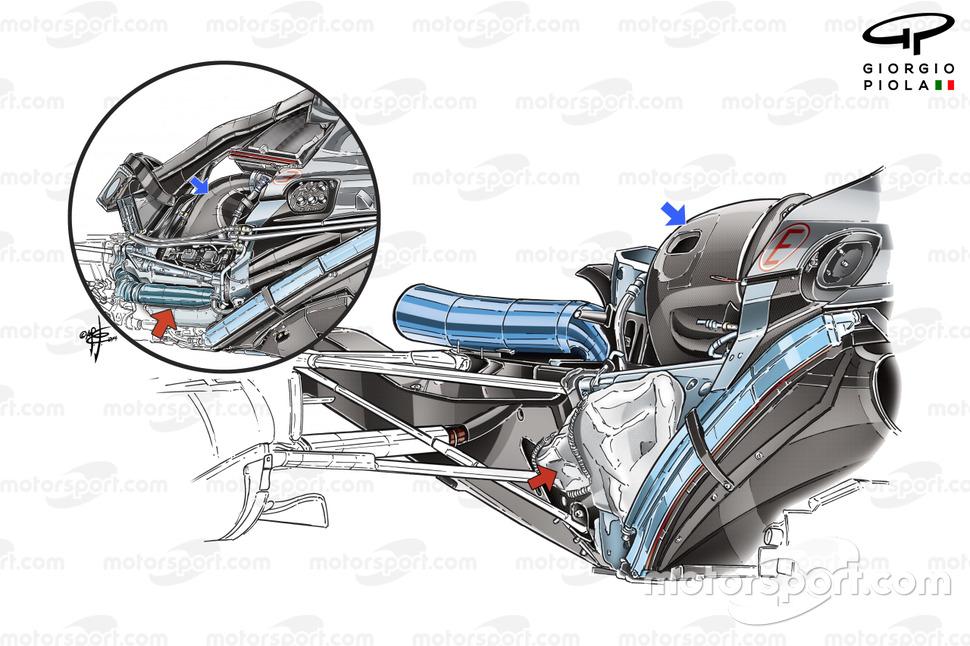 El escape del Mercedes AMG F1 W06