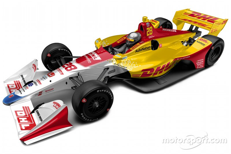 Ryan Hunter-Reay livery unveil