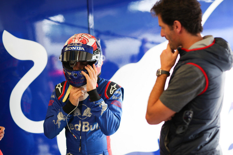 Marc Marquez, con l'ex pilota di Formula 1 Mark Webber