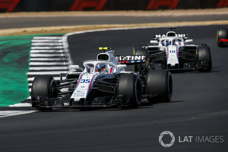 P14: Sergey Sirotkin, Williams FW41, voor Lance Stroll, Williams FW41