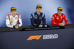 Press conference: race winner Alexander Albon, DAMS, second place George Russell, ART Grand Prix, third place Antonio Fuoco, Charouz Racing System
