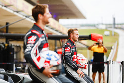 Romain Grosjean, Haas F1 Team, Kevin Magnussen, Haas F1 Team, at the Haas F1 Teams home race photo c