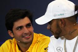 Carlos Sainz Jr., Renault Sport F1 Team ve Lewis Hamilton, Mercedes AMG F1