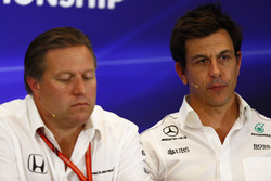 Toto Wolff, Executive Director Mercedes AMG F1, Zak Brown, Executive Director, McLaren Technology Gr