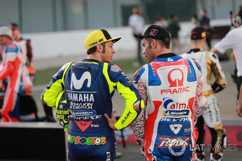 Валентино Россі, Yamaha Factory Racing, Даніло Петруччі, Pramac Racing