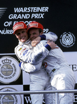 Podium: third place Rubens Barrichello, Stewart Grand Prix
