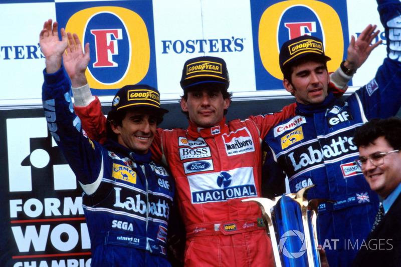 1993 (Аделаїда). Подіум: 1. Айртон Сенна, McLaren. 2. Ален Прост, Williams. 3. Деймон Хілл, Williams