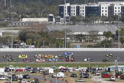 Chase Elliott, Hendrick Motorsports Chevrolet Camaro and Martin Truex Jr., Furniture Row Racing Toyota