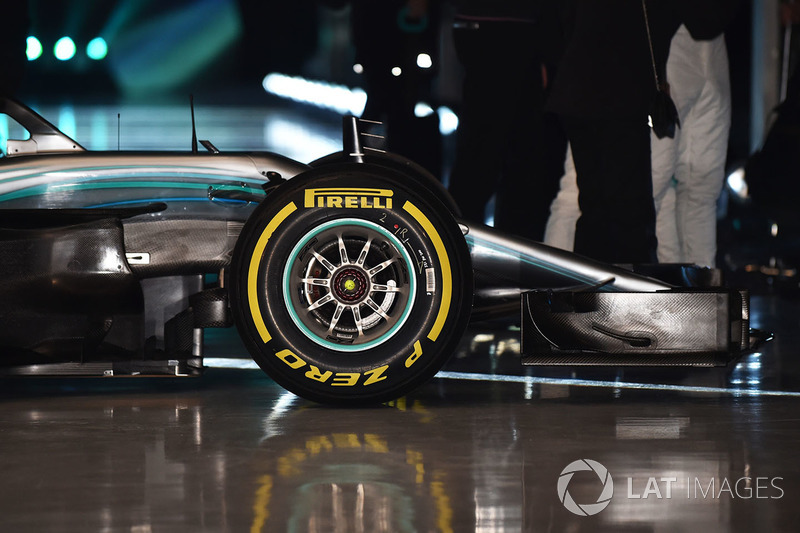 Mercedes AMG F1 W09, detalle del frente