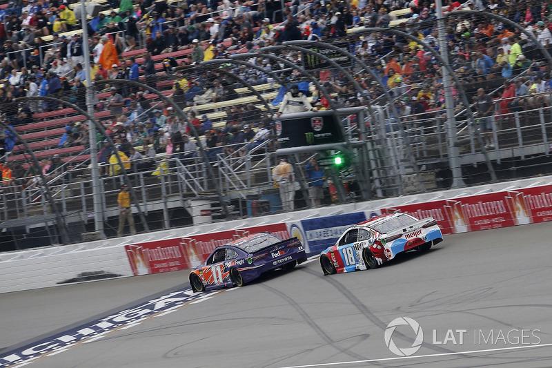 Kyle Busch, Joe Gibbs Racing, Toyota Camry M&M's Red White & Blue Denny Hamlin, Joe Gibbs Racing, Toyota Camry FedEx Freight