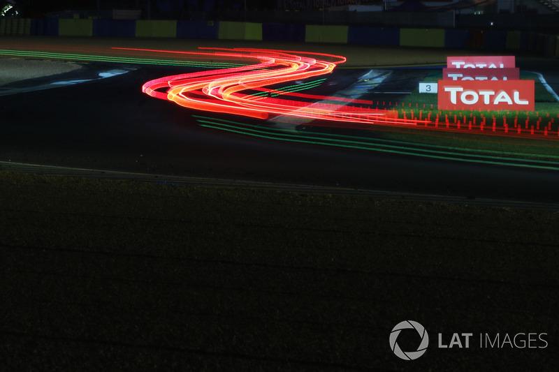 Trailing lights at Le Mans