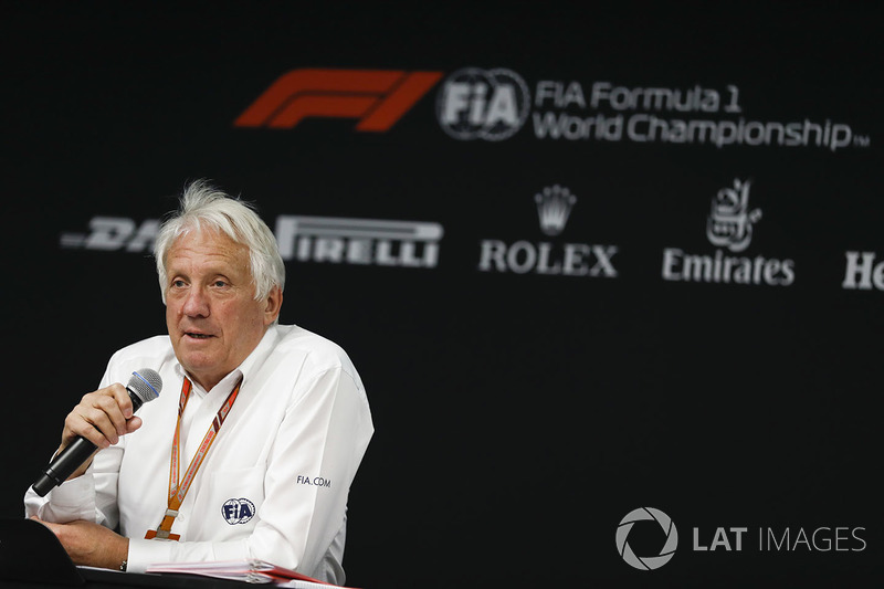 Charlie Whiting, Race Director FIA, konferensi pers FIA