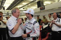 LMP1 pole sitter Neel Jani, Porsche Team with Pascal Couasnon, Michelin Motorsport Director