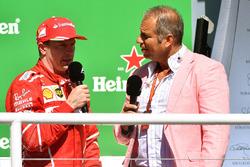 Podium: third place Kimi Raikkonen, Ferrari with Kai Ebel