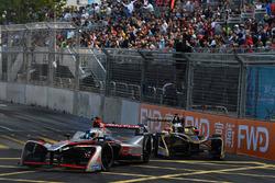 Maro Engel, Venturi Formula E, leads Andre Lotterer, Techeetah