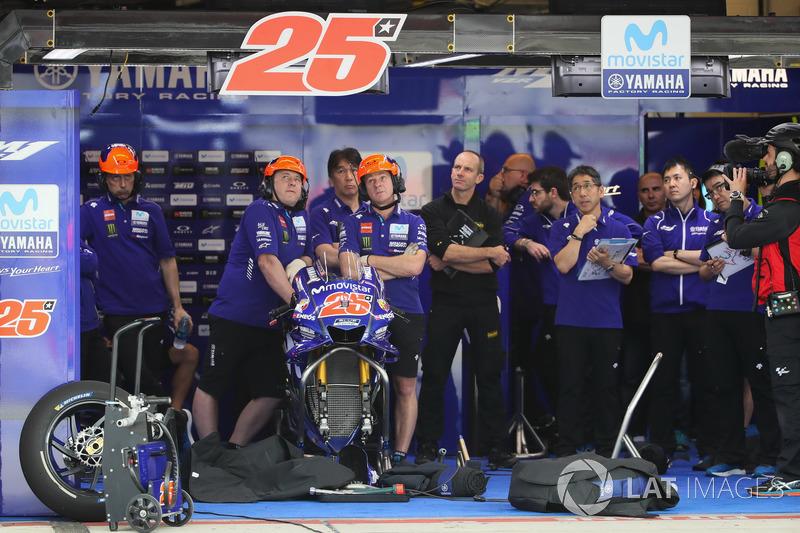Garage of Maverick Viñales, Yamaha Factory Racing