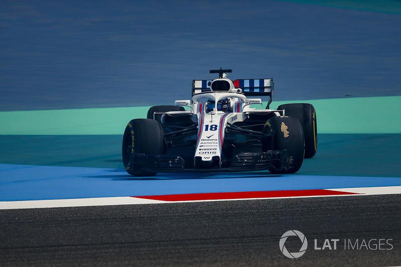 Lance Stroll, Williams FW41 spins