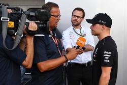 Valtteri Bottas, Mercedes-AMG F1 praat met de media