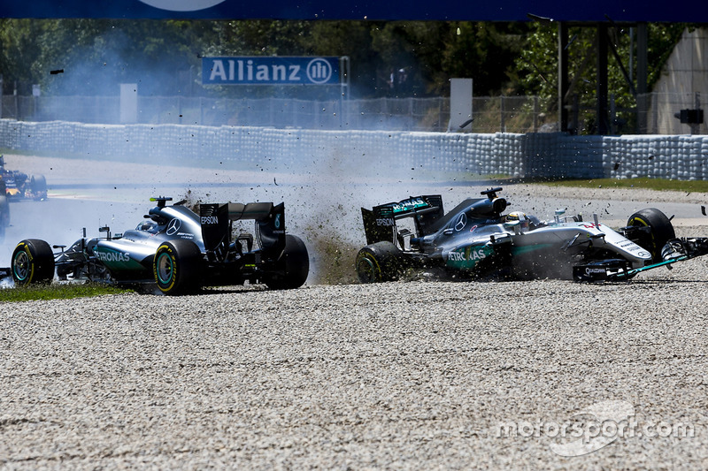 2. Lewis Hamilton, Mercedes AMG F1 y Nico Rosberg, Mercedes AMG F1 (GP de España)