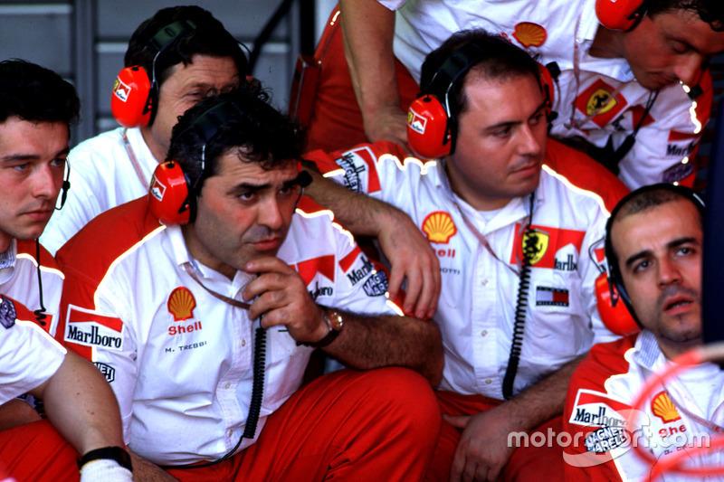 Los mecánicos de Ferrari