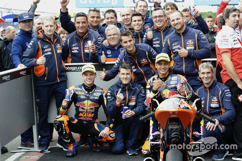 Race winner Brad Binder, Red Bull KTM Ajo, third place Bo Bendsneyder, Red Bull KTM Ajo