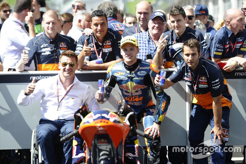 Brad Binder, Red Bull KTM Ajo, KTM with Pit Beirer