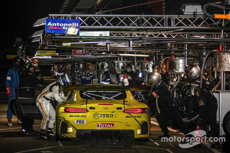 #86 AMG-Team HTP Motorsport, Mercedes-AMG GT3: Maximilian Götz, Thomas Jäger, Gary Paffett