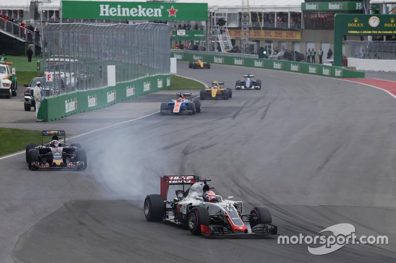 Ромен Грожан, Haas F1 Team VF-16, блокування при гальмуванні