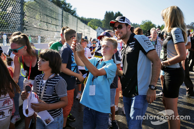 Sergio Perez, Sahara Force India F1 con i tifosi