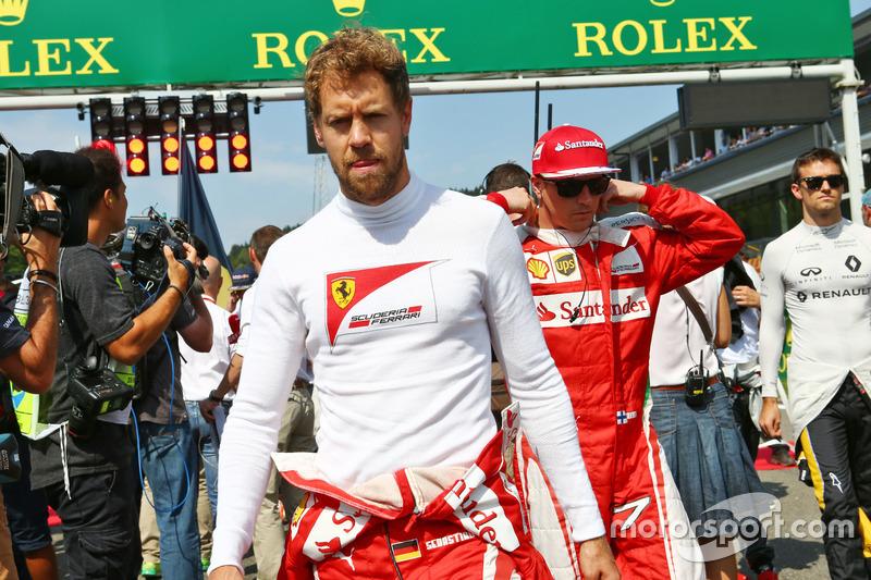 Sebastian Vettel, Ferrari in griglia
